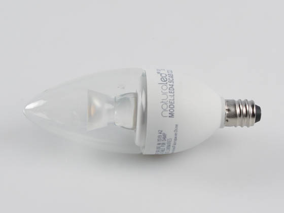 NaturaLED 4563 LED4.5CAB/32L/E12/830 Dimmable 4.5W 3000K Decorative LED Bulb