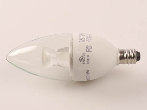 NaturaLED 4564 LED4.5CAB/32L/E12/850 Dimmable 4.5W 5000K Decorative LED Bulb