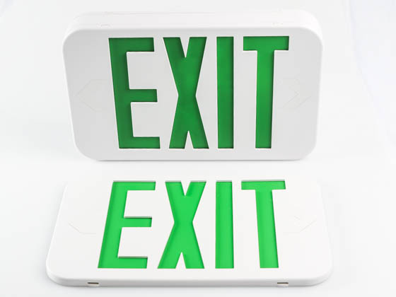 MaxLite 14101487 EX-GW Maxlite LED Exit Sign with Battery Backup, Green Letters, Title 20 Compliant