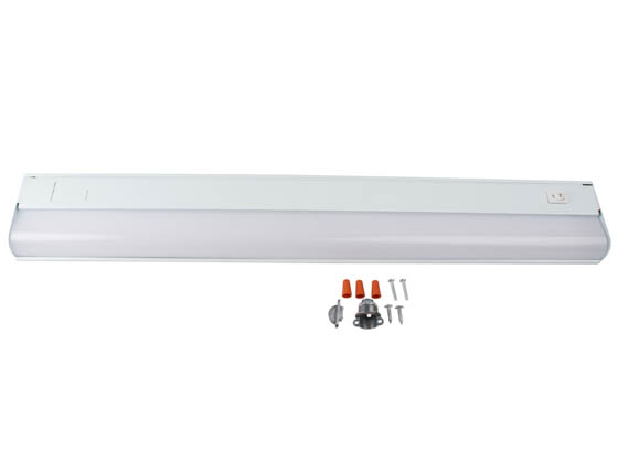 "GlobaLux Lighting UCL-24-9-120D-930/40-WH GlobaLux 24"" 9 Watt White 3000K/4000K Dimmable LED Undercabinet Light Fixture, Direct Wire, Title 24 Compliant"