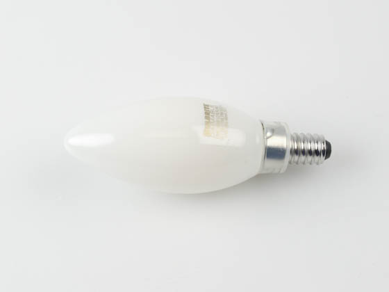 Bulbrite 776887 LED5B11/27K/FIL/M/3 Dimmable 5W 2700K Decorative Filament LED Bulb, Enclosed Fixture Rated