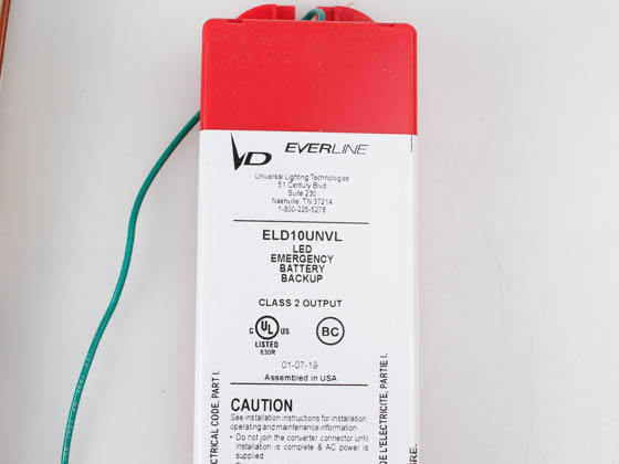Everline ELD10UNVL000I Universal ELD10UNVL Emergency LED Driver, 10 Watts Output Power