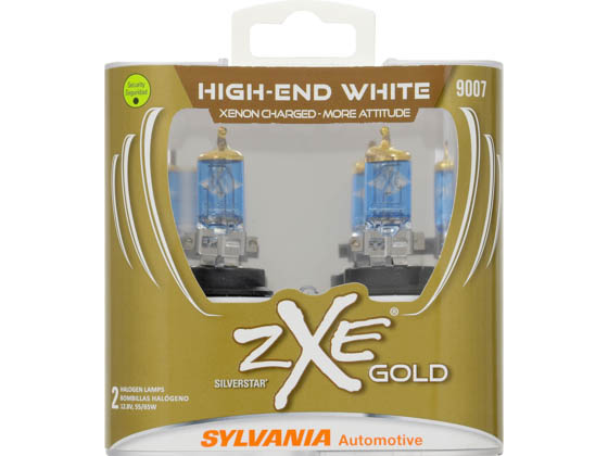 Sylvania 30777 9007SZG.PB2 EN-SP 2/SKU 4/BX 16/CS 9007 zXe Gold Halogen Headlight and Fog Bulb