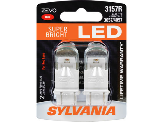 Sylvania 32735 ZEVO2 G2 3157RLED.BP2 EN-SP UPP 2SK 24CS Red 3157R  ZEVO LED Automotive Bulb