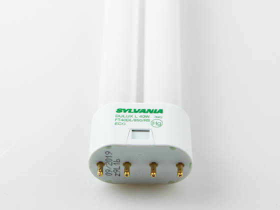 Sylvania SYL20576 FT40DL/850/RS/ECO 40W 4 Pin 2G11 Bright White Long Single Twin Tube CFL Bulb