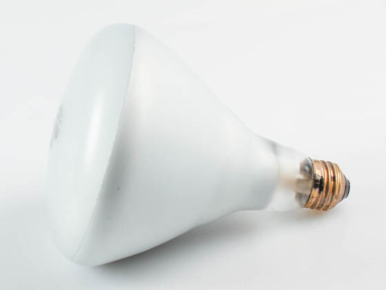 Sylvania 15451 (Safety) 125BR40 (Safety) 125 Watt, 120 Volt BR40 Clear Safety Coated Reflector Bulb. WARNING:  THIS BULB IS NOT TO BE USED NEAR LIVE BIRDS.