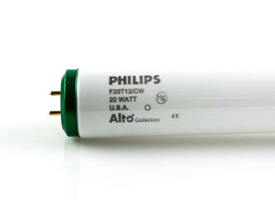 Philips 20w 24in T12 Cool White Fluorescent Tube F20t12 Cw Alto Bulbs Com