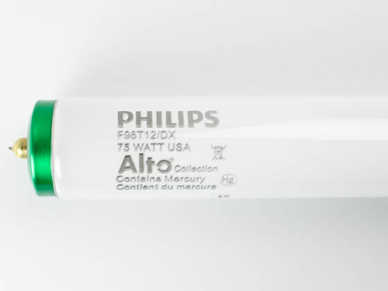 Philips Lighting 372821 F96T12/DX  ALTO Philips 75W 96in T12 Daylight Deluxe White Fluorescent Tube, 90 CRI, Full Pallets Only