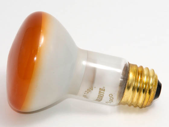 Bulbrite 222050 50R20A  (Amber) 50W 120V R20 Amber Reflector Flood E26 Base