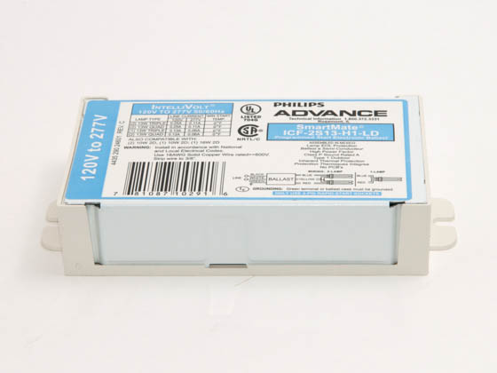 Advance Transformer ICF2S13H1LDK ICF2S13H1LDK (120-277V) Philips Advance Electronic Ballast 120V to 277V for (2) 13W Plug-in CFL