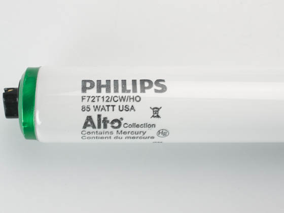 Philips Lighting 366518 F72T12/CW/HO (High Output) Philips 85W 72in T12 HO Cool White Fluorescent Tube