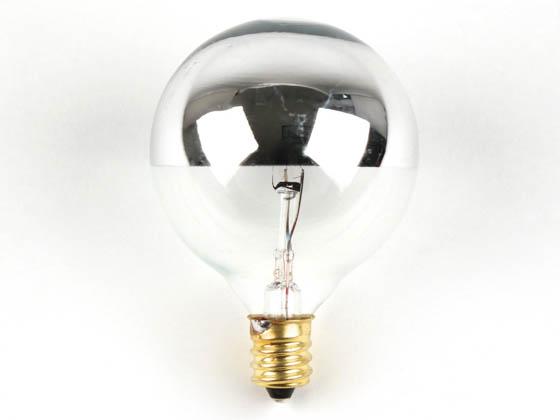 Bulbrite B712312 25g16hm Half Mirror 25w 120v G16 Globe Bulb