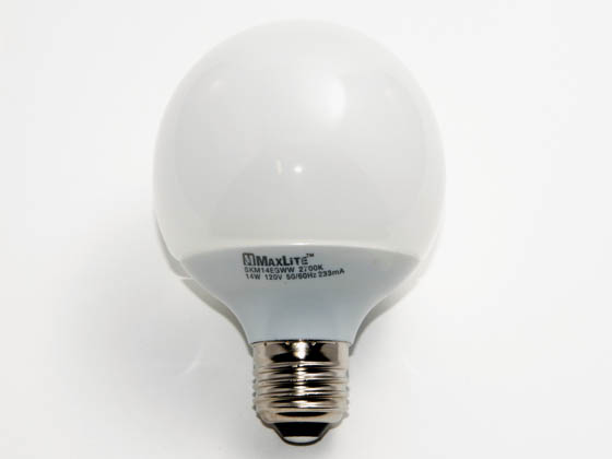 MaxLite M31522 SKM14EG (DISCONTINUED Use 31527) 60 Watt Incandescent Equivalent, 14 Watt, G25 Warm White Compact Fluorescent Medium Base Bulb