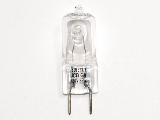 Bulbrite B655025 Q25GY8/120 (GY8 Base) 25W 120V T4 Clear Halogen 8mm Bipin Bulb