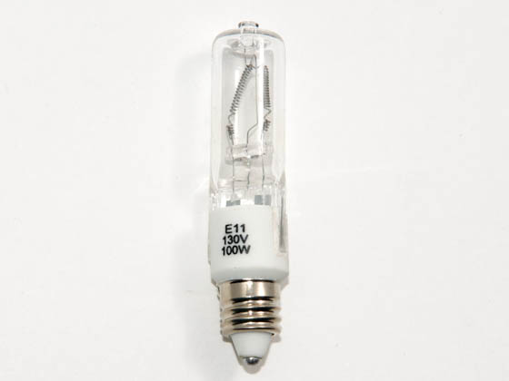 Eiko W-Q100CL/MC/2V-130V Q100CL/MC/2V-130V 100 Watt, 130 Volt T4 Clear Halogen Mini Can Bulb