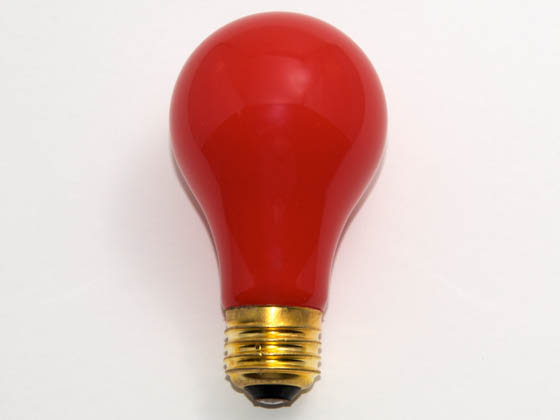 Bulbrite B106725 25A/CR (Red) 25W 120V A19 Red E26 Base