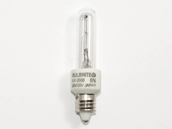 Bulbrite B473120 KX20CL/MC KX2000 20W 120V T3 Clear Chroma Bulb, E11 Base
