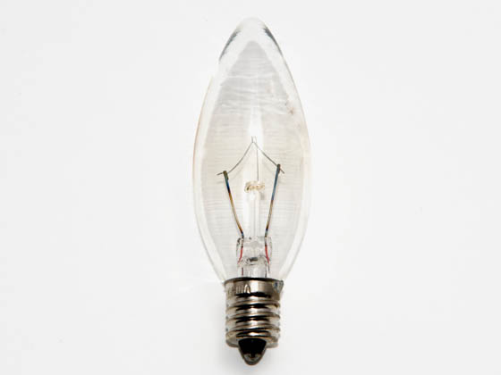 Bulbrite B460010 KR10CTC/25 10W 120V Clear Krypton Blunt Tip Decorative Bulb, E12 Base