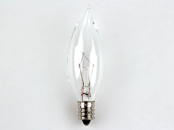 Bulbrite B460310 KR10CFC/25 10W 120V Clear Krypton Bent Tip Decorative Bulb, E12 Base