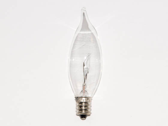 Bulbrite B460315 KR15CFC/25 15W 120V Clear Krypton Bent Tip Decorative Bulb, E12 Base