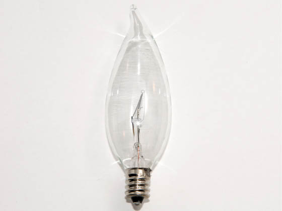 Bulbrite B460360 KR60CFC/32 60W 120V Clear Krypton Bent Tip Decorative Bulb, E12 Base