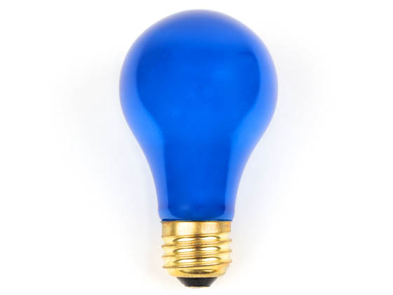 Bulbrite B106325 25A/CB (Blue) 25W 120V A19 Pale Blue E26 Base