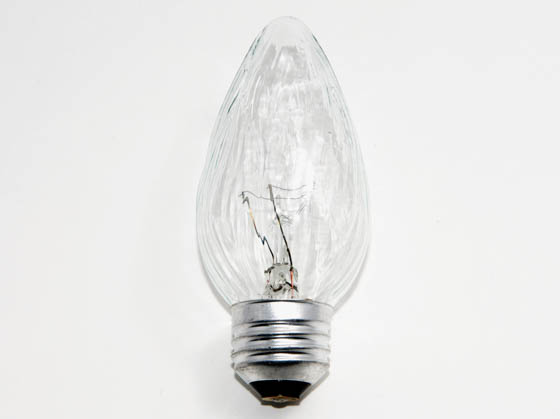 Philips Lighting 168351 BC-40F15/CL/LL (120V) Philips 40W 120V F15 Clear Long Life Fiesta Bulb, E26 Base