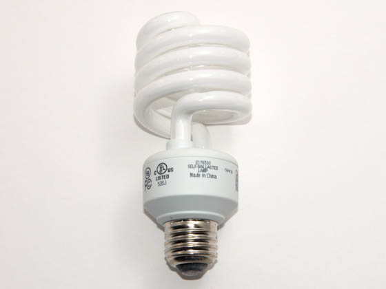 Greenlite Corp. G387011 23W/ELS-M/41K (Mini) 100 Watt Incandescent Equivalent, 23 Watt, 120 Volt Cool White Spiral CFL Bulb