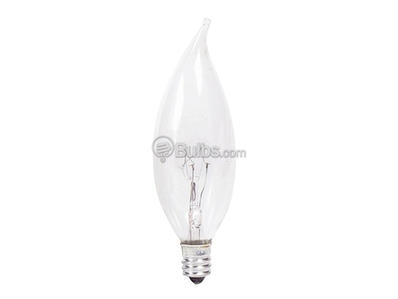 Philips Lighting 168062 BC-25BA9C/CL/LL (120V) Philips 25W 120V Clear Bent Tip Long Life Decorative Bulb, E12 Base