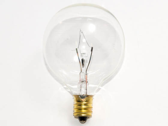 Bulbrite B311025 25G16CL3 25W 130V G16 Clear Globe Bulb, E12 Base