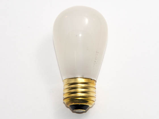 Bulbrite B701911 11S14F (Frosted) 11W 130V S14 Frosted Sign or Indicator Bulb, E26 Base