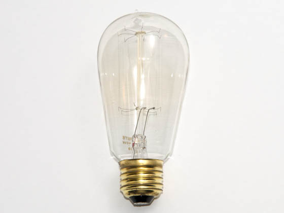 Bulbrite B134019 NOS40-1910 40W 120V ST18 Nostalgic Decorative Bulb, E26 Base