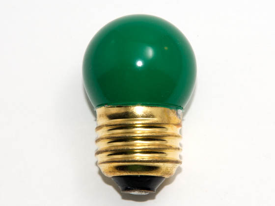 Bulbrite B702407 7.5S11G (Green) 7.5W 130V S11 Green Sign E26 Base