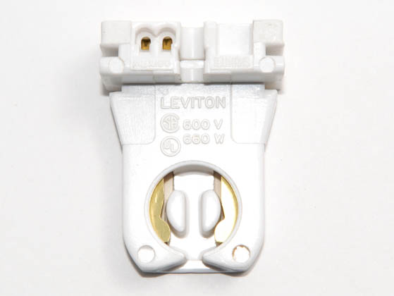 Leviton L23351 Medium Bi-pin Socket (Shunted) Low Profile Shunted Medium Bipin Fluorescent Socket