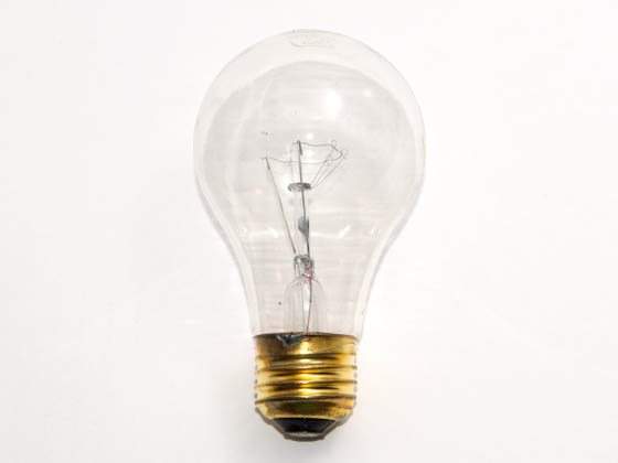 Glass Surface Systems 40A19/CL (Safety) 40A19/CL/130 (Safety) 40 Watt, 130 Volt A19 Clear Safety Coated Bulb