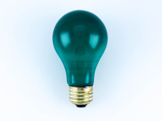 Bulbrite B106460 60A/CG 60W 120V Green A19 Bulb, E26 Base