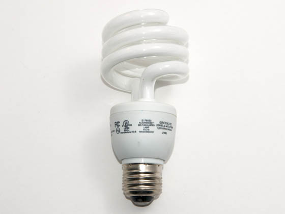 Greenlite Corp. G371140 20W/ELS-M/27K (Mini) DISCONTINUED USE 369703 75W Incandescent Equivalent, ENERGY STAR Qualified. 20 Watt, 120 Volt Warm White CFL Bulb