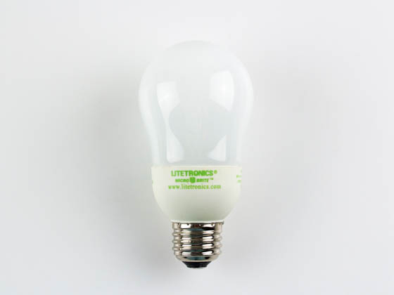 Litetronics MB-801DL 8W White A19 Dimmable Cold Cathode Bulb, E26 Base