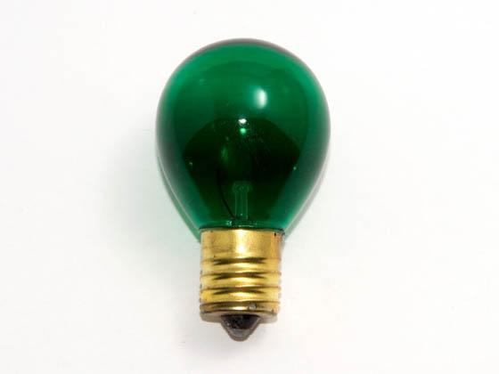 Bulbrite B702410 10S11TG (Trans. Green) 10W 130V S11 Transparent Green Sign or Indicator Bulb, E17 Base