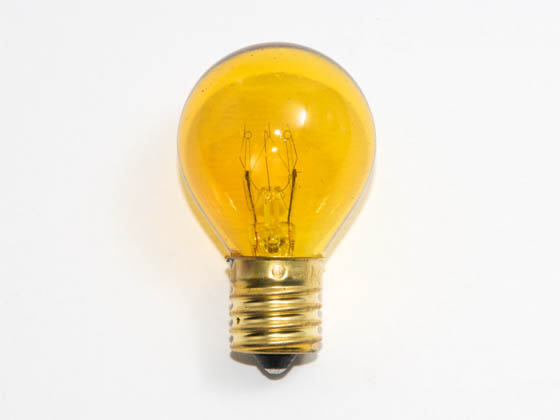 Bulbrite B702810 10S11TY (Trans. Yellow) 10W 130V S11 Transparent Yellow Sign or Indicator Bulb, E17 Base