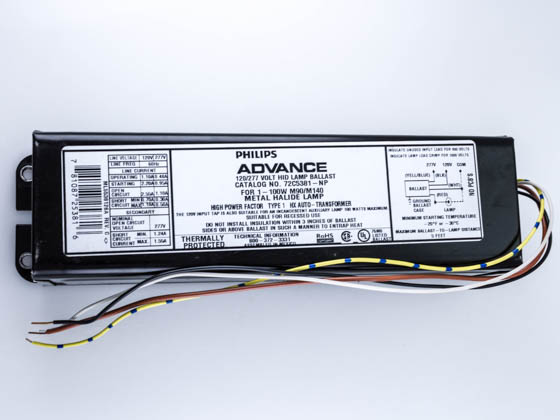 Advance Transformer 72C5381-NP-001 Philips Advance FCan Ballast for 100W Metal Halide