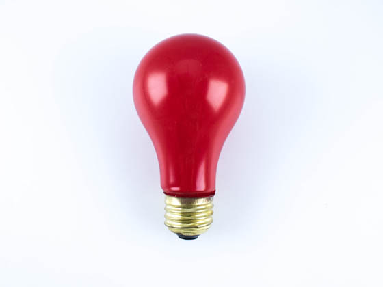 Bulbrite B106760 60A/CR (Red) 60W 120V Red A19 Bulb, E26 Base