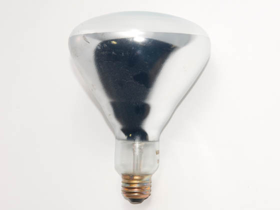 Satco Products, Inc. GSS125BR40 (Safety) 125BR40 (Safety Ctd. Heat Lamp) 125 Watt, 120 Volt BR40 Safety Coated Heat Lamp Reflector Bulb. WARNING:  THIS BULB IS NOT TO BE USED NEAR LIVE BIRDS.