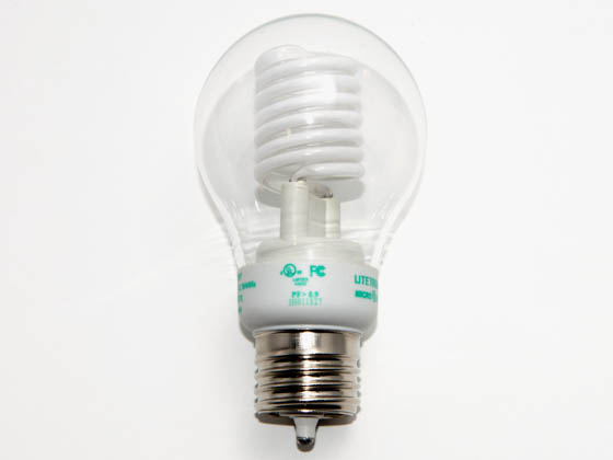 Litetronics MB-500DP 5W/A19/CL/PW 30 Watt Incandescent Equivalent, 5 Watt, Clear A19 DIMMABLE/FLASHABLE Cold Cathode Bulb