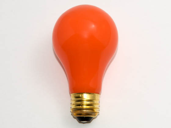 Bulbrite B106560 60A/CO 60W 120V A19 Ceramic Orange E26 Base