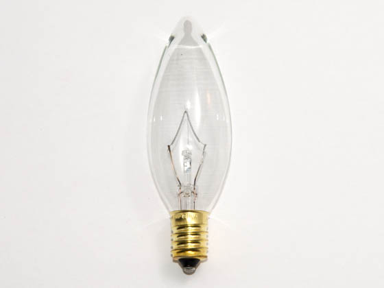 Bulbrite B400460 60CTC/E14 60W 130V Clear Blunt Tip Decorative Bulb, European E14 Base