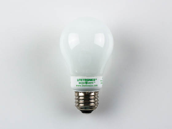 Litetronics MB-501DL 5W/A19/WH-LW 110-130 30 Watt Incandescent Equivalent, 5 Watt, White A19 DIMMABLE/FLASHABLE Cold Cathode Lamp.