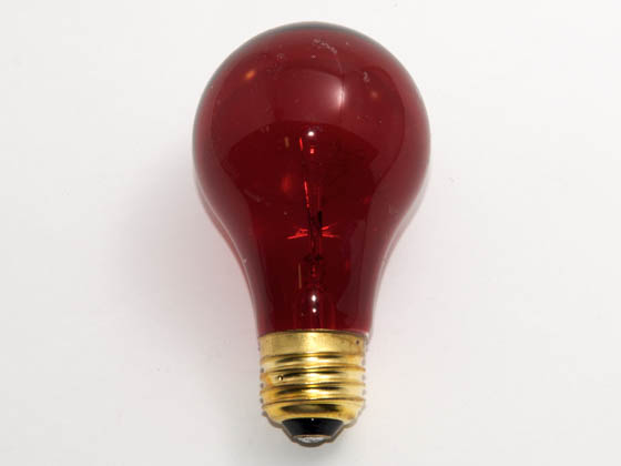 Glass Surface Systems 25A19/Red (Safety) 25A19/Red/120-130V (Safety) 25 Watt, 120-130 Volt A19 Red Safety Coated Bulb