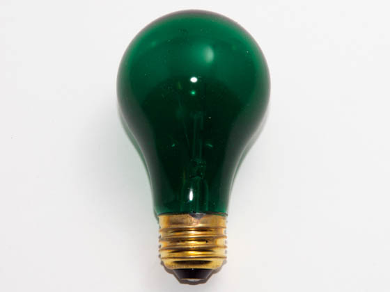 Glass Surface Systems 25A19/Green (Safety) 25 Watt, 120 Volt A19 Green Safety Coated Bulb