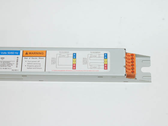 Universal B254PUNV-D001C Electronic Programmed Rapid Start Ballast 120V to 277V for (1 or 2) 36W to 55W F54T5